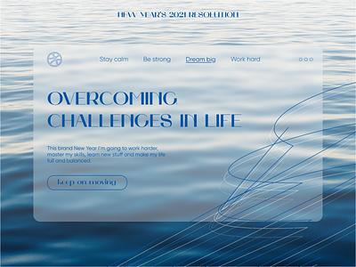 My 2021 NYear resolution challenge ui design resolution new year 1stshot