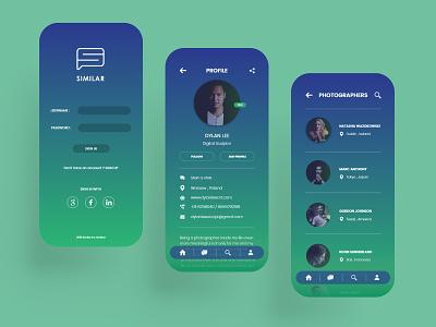 Business Collaboration App prototype product design app app design mobile app design mobile app mobile ui framer xd ui  ux interface design user inteface ux design ui ux ui design uiux figma adobe xd design