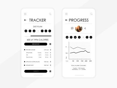 Nutrition Tracking App food app tracker track tracking app fitness fitness app health health app mobile app design app nutrition app nutrition ux design ui design app design mobile app mobile ui figma design adobe xd