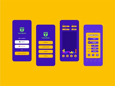 Tetris Master - Mobile Game Concept tetris uxui uiux ux ui app game