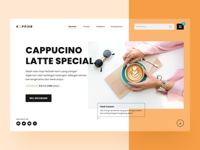 KOPPIER - Landing Page for Coffee Business business marketing web brand coffee ui ux landing page