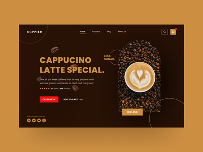 KOPPIER - Layout Exploration branding clean simple chocolate layout business shop ecommerce coffee web design web ui ux
