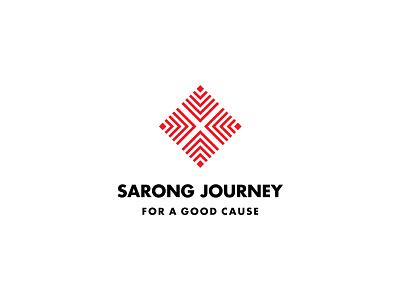 Sarong Journey - Final simple logomark symbol indonesia black red culture travel journey brand identity logo
