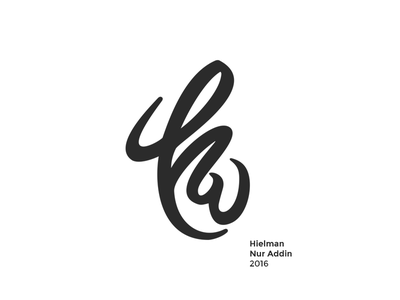 Personal Logo - Redesign letter type smooth simple vintage friendly identity brand logo iconic