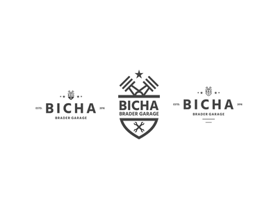BBG iconic logo brand identity friendly vintage simple smooth type letter