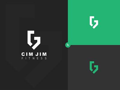 Cim Jim - Fitness modern fitness logo letter logo hand letter j c men woman man jim design branding brand logo design creative company professional logo fitness