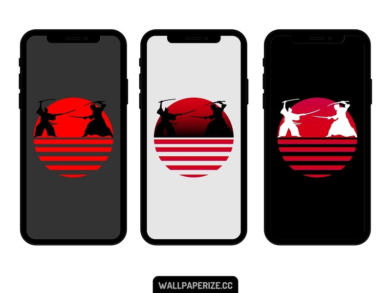 Iphone wallpapers - Samurai synthwave style samurai synthwave minimalism flat cool minimal wallpapers wallpaper design wallpaper mobile background