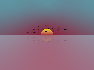 Minimalist Sunset beautiful birds sun sunset landscape gradient minimalism minimal flat wallpapers wallpaper design wallpaper background