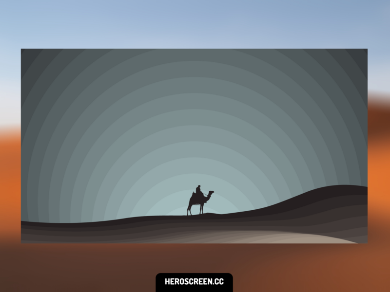 Desktop Wallpaper - Desert Night desktop desert moon gradient minimalism flat cool minimal wallpapers wallpaper design wallpaper background