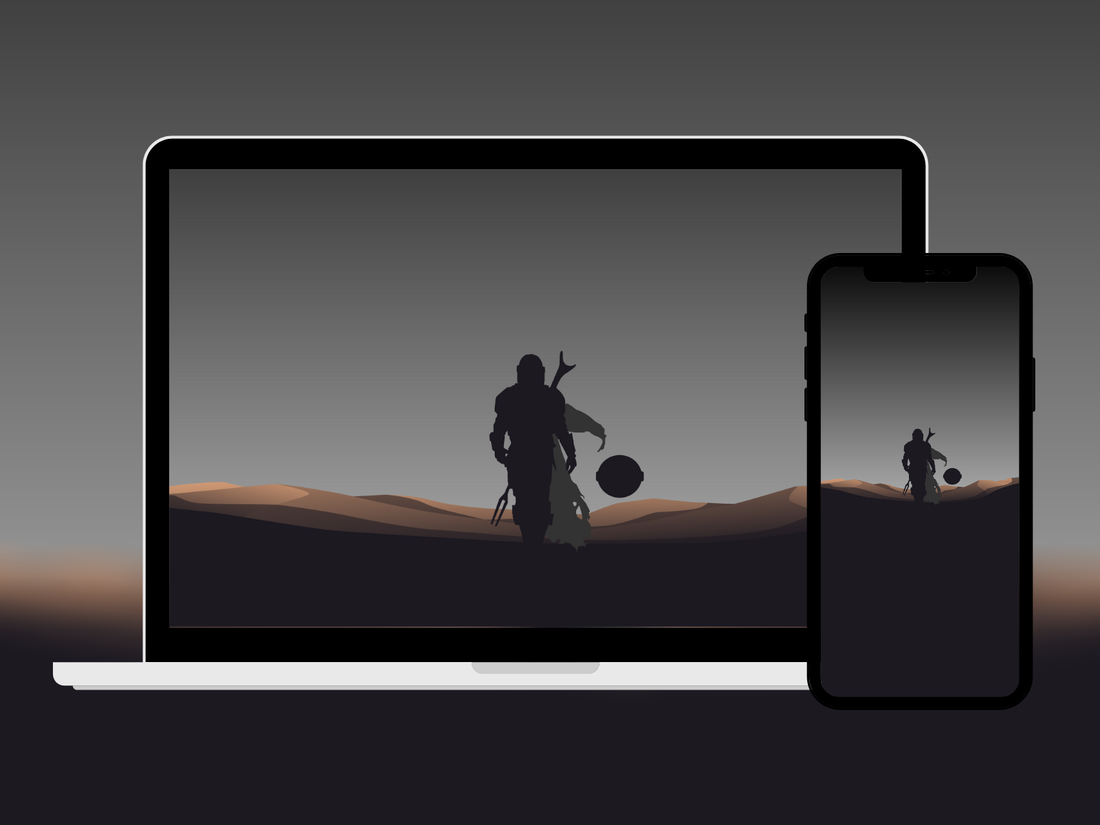 The Mandalorian Minimalist Wallpaper By Jorge Hardt On Dribbble