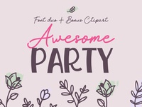 Awesome Party Font Duo