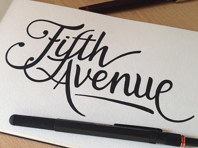 Fifth Avenue hand lettering handmade rotring handlettering chrysler