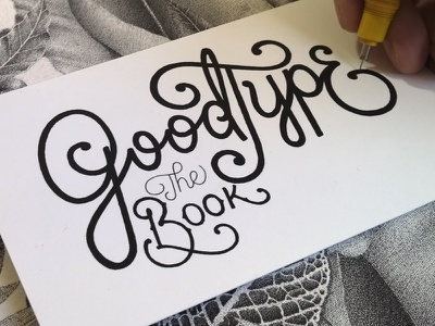 Goodtype the Book handlettering stippling pointillism lettering typography typographie ink illustration