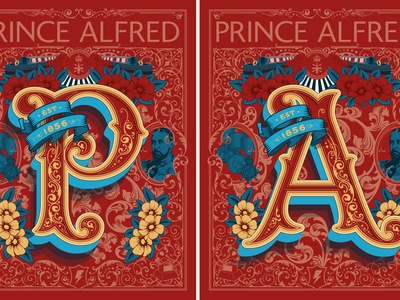Prince Alfred Pub Sign type royal alfred prince vector art pub sign pub lettering artist lettering signage design signage sign vector drawing detail typography illustration