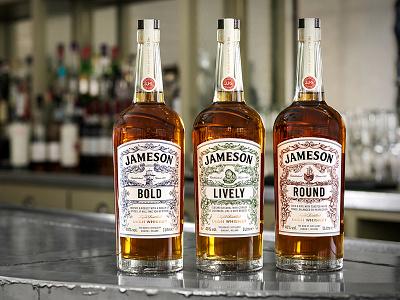 Jameson Deconstructed Series Bottles ship deconstructed spirits packaging whiskey pencil pen illustration hand drawn jameson