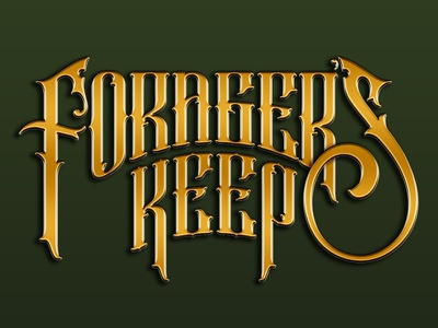 Forager's Keep Scottish Whisky_Lettering gold packaging design logo designer logo design hand lettering font design wordmark bottle branding vector logo design packaging detail typography hand drawn illustration
