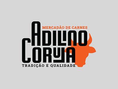 Logo | Butchery Adilino Coruja redesign rebranding branding logotype bull logo brazil brasil carne mercado açougue butchery meat logo design logo