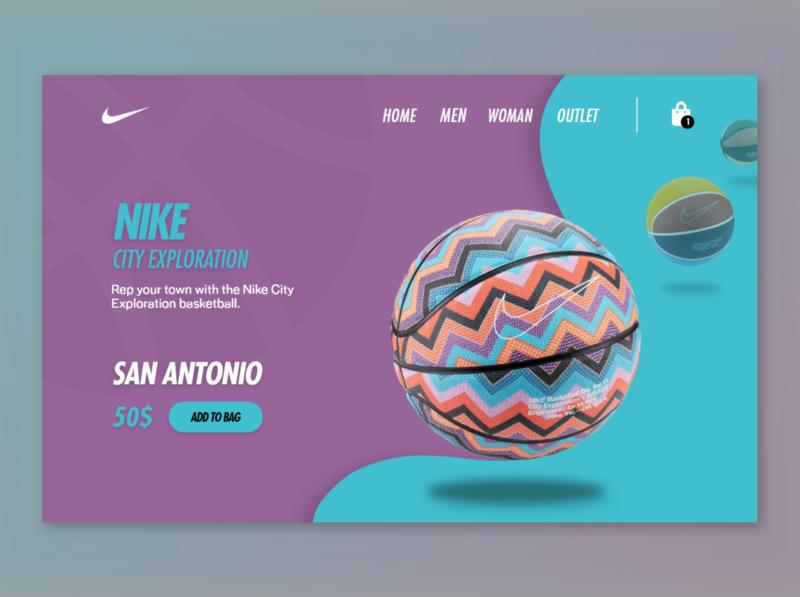 Nike Basketball Shop brand inspiration colors web ux uiux ui landingpage design basketball webdesign nike