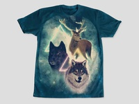 Wolf and Deer 3/3 of 'Predators and Prey' with Kris Tate