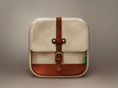 Backpack Icon realistic icon backpack ios