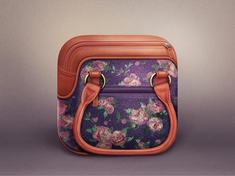 Bag Icon realistic icon ios bag