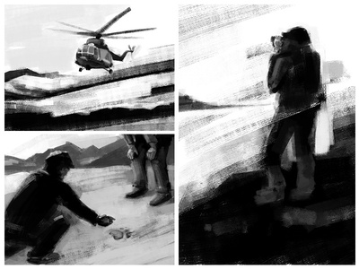 Polar expedition sketch speed painting speed sketch illustration