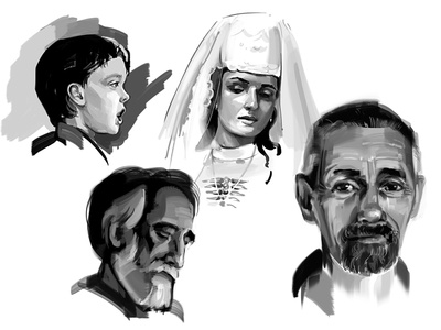 Head Studies sketch speed painting speed sketch illustration