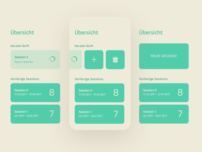 Overview Page create new delete add swipe hhapp hh ios ux ui sketch