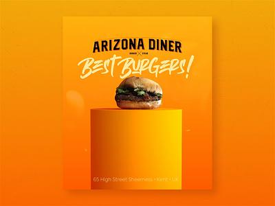 Arizona Diner Uk Campaing redshift arnold octane render vrayforc4d 3d food hamburger burger motion interactive social campaing c4d motion graphic digital art american diner diner