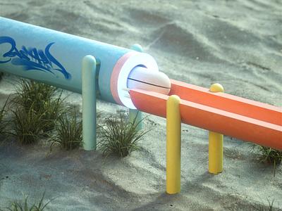 Tiny Transfers dynamic animation quixel sand ceramic toy wood balls pastel tiny experimental c4d