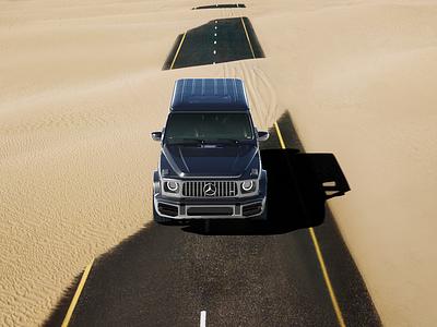 Mercedes g63 amg Cgi test g63 automotive mercedes render vray c4d