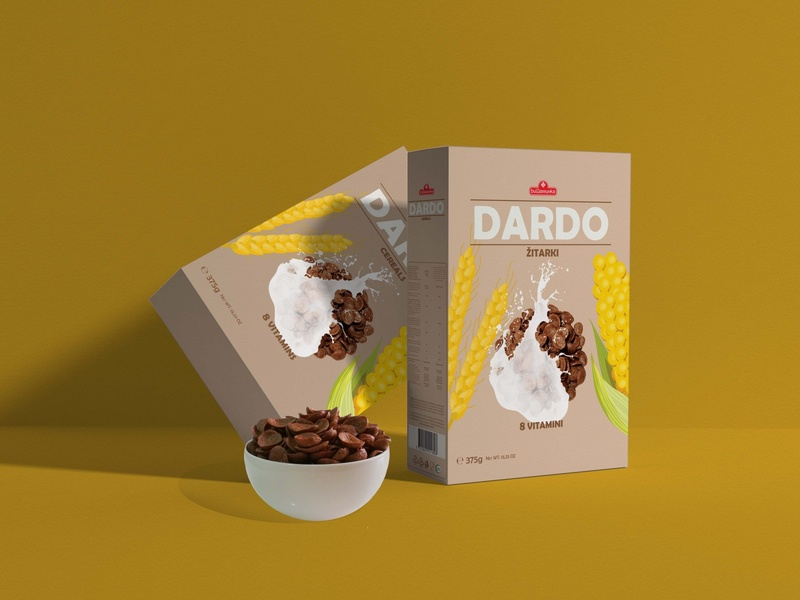 Package design for cornflakes (self project) logo design vector illustration designer creative graphic design package design