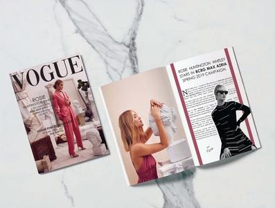 Fashion Magazine (self project). photoshop marble magazine design indesign vogue designer graphic design creative