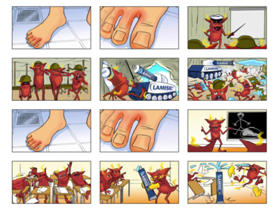 Storyboard for an advertising agency