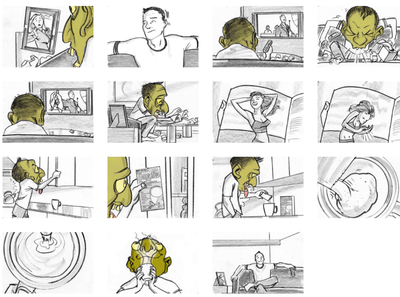 Storyboard for cold/flu relief