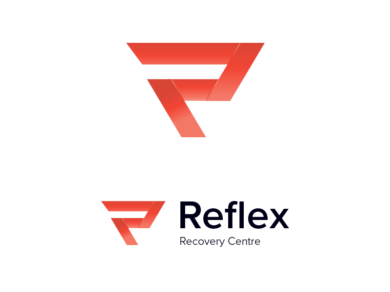 Reflex Logo fitness identity brand branding concept red strong simple gradient logo reflex