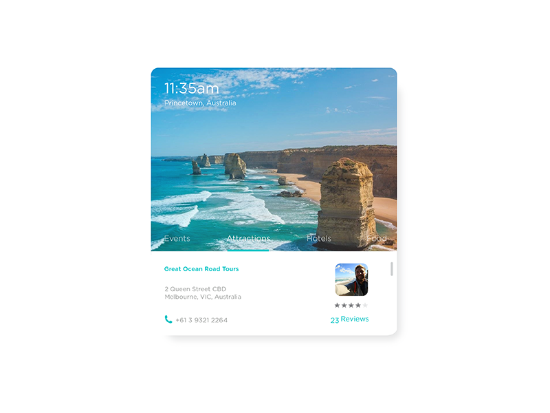 Travel Widget interface design ux ui melbourne minimal app widget travel