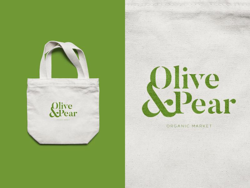 Olive & Pear Market type logotype serif logo simple logo minimal simple market organic