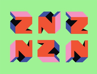 letter z modern logo modern art neon colors lettering art lettering typography art typeface logo shapes graphic design 36daysoftype number design illustration simple typogaphy