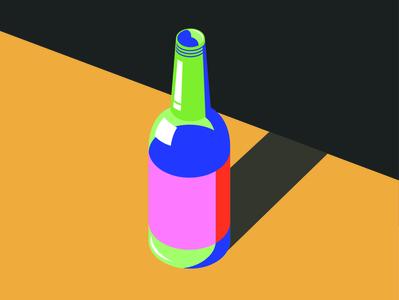 Bottle bottle design bottle label bottle colourful logo vector shapes simplicity illustration malika favre simple