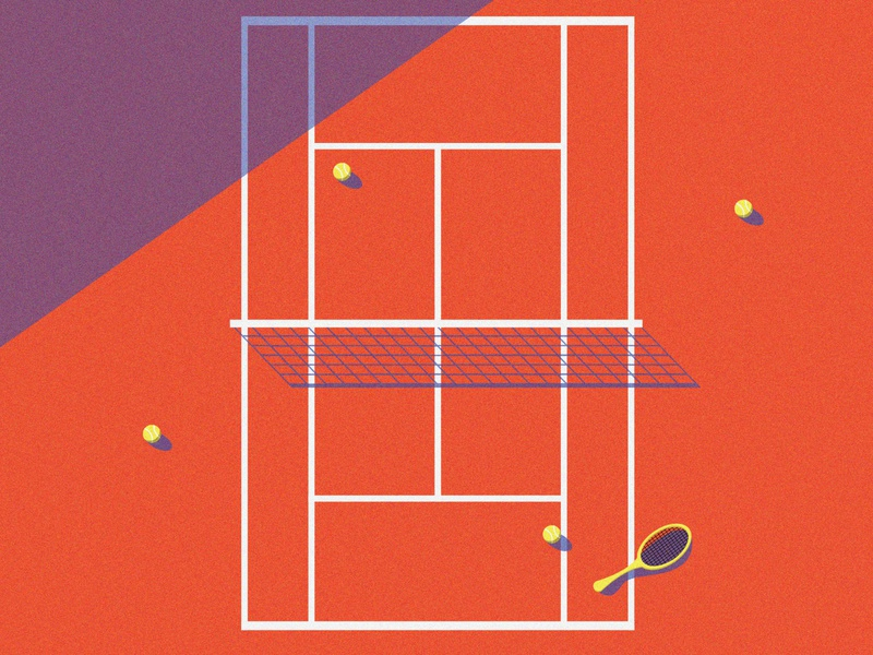 Let's play graphic design simplicity vector sport sports design minimalist bright grain texture shapes simple illustration tennis player grainy grain tennis