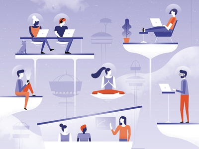 Illustration - Future Workplace - Raconteur - The Times