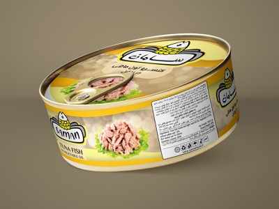 Label design for Saman Canned Tuna label designers label designer tuna packaging tuna label food label label packaging labeldesign labels label design label