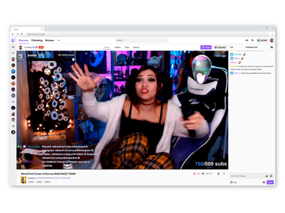 Twitch Hype Train livestreaming ui ux motion product design