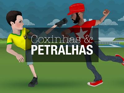 Coxinhas & Petralhas - O Jogo petralha coxinha politics illustration 3d game design game