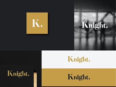 Knight Logo design vector graphic design branding brand logotype logo logo design knight logo k logo