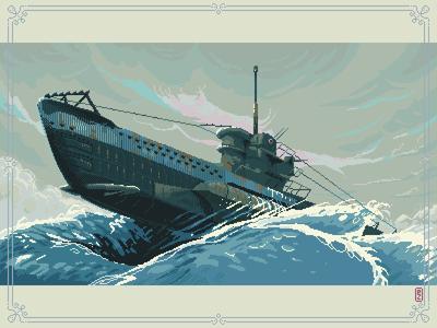 Das boot U96 [pixel art]
