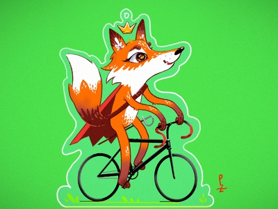 Cycling Fox – KOM character design characterdesign adorable fixed gear king of the montain king little prince cycling cartoon cute character bicycle fox