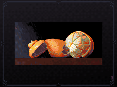 Just an orange 🍊 [pixel art] 8bitart gameart gamedev pixel artist srpite aseprite orange 16bit 8bit pixel pixel art pixelart