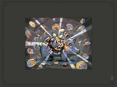 Piggybank [pixel art] game art savings money coin piggybank illustration sprite aseprite 16bit 8bit pixelartist pixelart pixel art